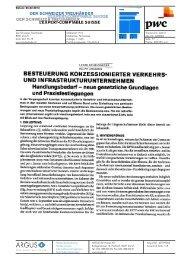 BESTEUERUNG KONZESSIONIERTER VERKEHRS- UND ... - PwC