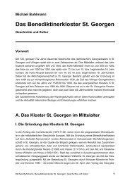 Das Benediktinerkloster St. Georgen - Baarverein