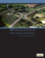 Enhancing intErsEction safEty through roundabouts: - Institute of ...
