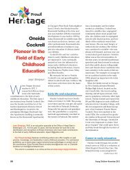 Our Proud Heritage. Oneida Cockrell - National Association for the ...
