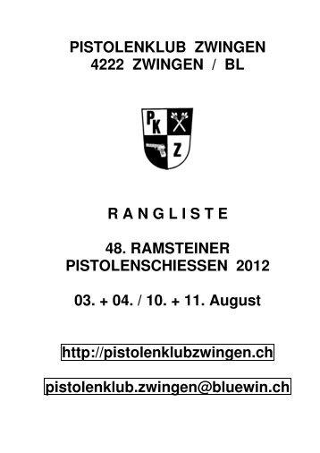 Rangliste 48. Ramsteiner Pistolenschiessen 2012 - Pistolenklub ...