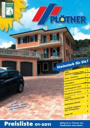 Preisliste 01-2011 - Betonwerk Carl Plötner GmbH