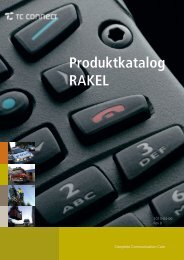 Produktkatalog RAKEL - TC Connect