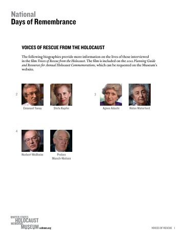 Profiles of Interviewees - United States Holocaust Memorial Museum