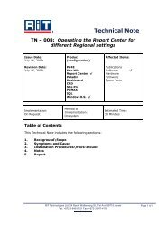 Operating the Report Center for different Regional settings - RiT ...