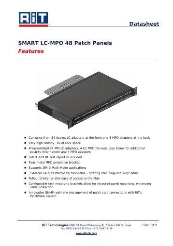 SMART LC-MPO 48 Patch Panels - RiT Technologies Ltd.