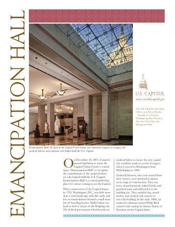 Emancipation Hall brochure for web lo.indd - the US Capitol