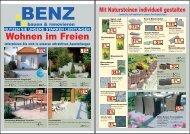 Wohnen im Freien - BENZ bauen & renovieren