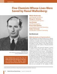 Five Chemists Whose Lives Were Saved by Raoul Wallenberg:
