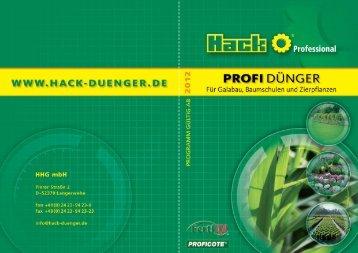 Organisch-mineralische Spezialdünger Organische ... - Hack Dünger