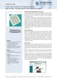 case study - Intersim AG