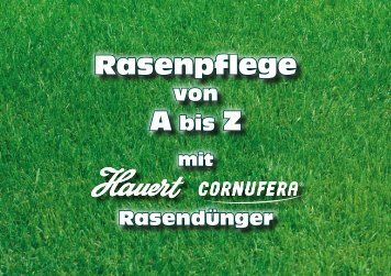 Rasenpflege Rasenpflege - Hauert Günther