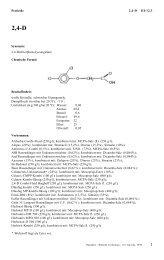 Pestizide 2,4-D III-12.3 Synonym: 2,4-Dichlorphenoxyessigsäure ...