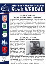 Finanzierungsidee Prähistorischer Fund - Stadt Werdau