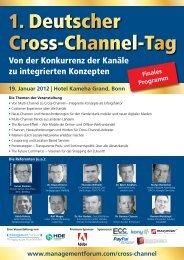 1. Deutscher Cross-Channel-Tag - Management Forum der ...