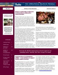 Volume XI, Issue IV - Tufts University