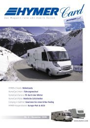 Nr. 4 | November 2006 Das Magazin rund ums mobile ... - Hymer