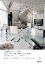 Bacher Katalog Esstische, Stühle, Couchtische und Medienmöbel ...
