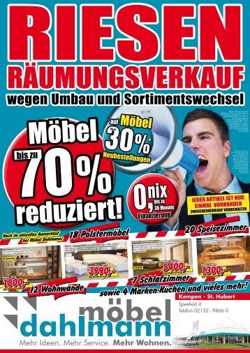 wegen umbau und sortimentswechsel - Möbel Dahlmann