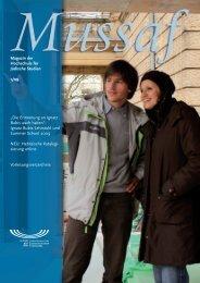 Mussaf 01 09 - Hochschule für Jüdische Studien Heidelberg