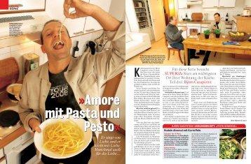 Amore mit Pasta und Pesto - bei Björn Casapietra