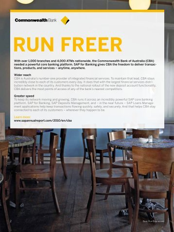 RUN FREER - SAP Annual Report 2011