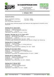Wanderprogramm 2013-1 - solingen-alpin.de