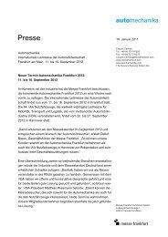 Presse - Messe Frankfurt