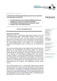 Schlussbericht Hafenkongress (PDF) - Karlsruher Messe- und ...