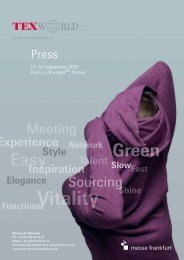 Texworld Sept 2010 - Press 13092010 GB (PDF) - Messe Frankfurt