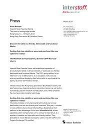 Press release - Messe Frankfurt