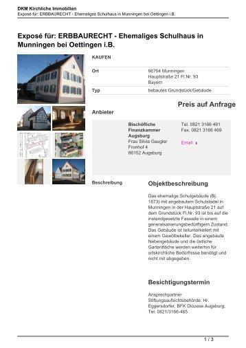 Exposé speichern - Kirchliche Immobilien