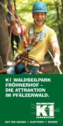 k1 waldseilpark fröhnerhof – die attraktion im pfälzerwald.