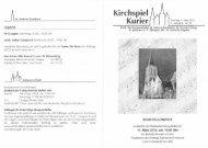 Kirchspiel Kurier - Bienenjahr.de