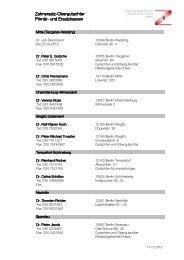 Liste ZE-Obergutachter Primär-und Ersatzkassen