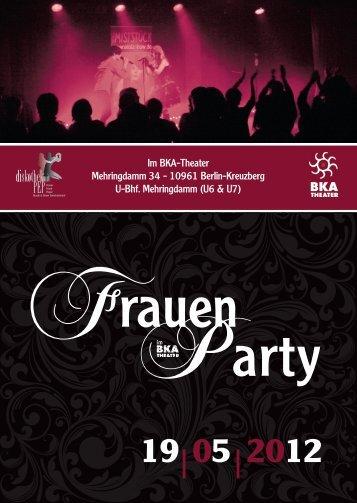 Im BKA-Theater Mehringdamm 34 - 10961 Berlin ... - Jutta Wieland