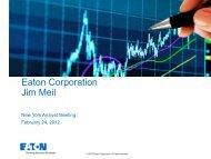Eaton Corporation Jim Meil