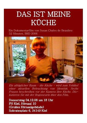 DAS IST MEINE KÜCHE - Fachhochschule Kiel