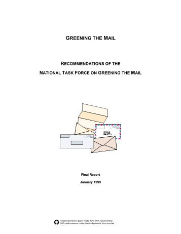 Greening the Mail - Recommendations of the ... - P2 InfoHouse