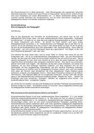Der Konstruktivismus ist in Mode gekommen - WebQuest-Forum