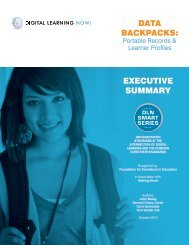 Data Backpacks: ExEcutivE summary