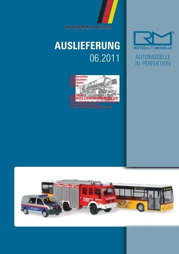 AUSLIEFERUNG 06.2011 - Modellbahnstation