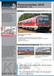 Neuheiten 2010 - Modellbahnstation