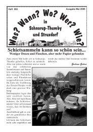 Mai 2006 - Wann? Wo? Wer? Wie? in Schnarup-Thumby