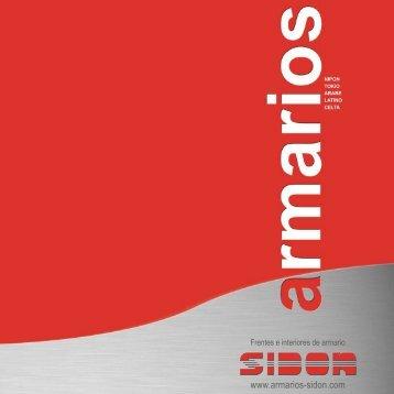 Descargue aquí el Catálogo de Armarios Sidon