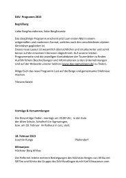 DAV Programm 2013 Begrüßung Liebe ... - DAV Sigmaringen