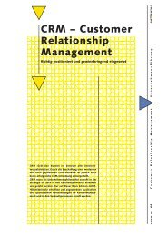 CRM – Customer Relationship Management - Inova