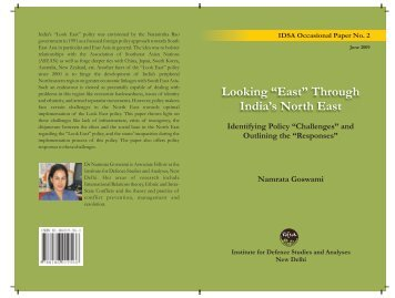 """Looking """"East"""" Through India' North East - Institute for Defence ..."""