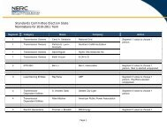 Standards Committee Election Slate Nominations for 2010 ... - NERC