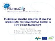 Prediction of cognitive properties of new drug ... - Alzheimer Europe
